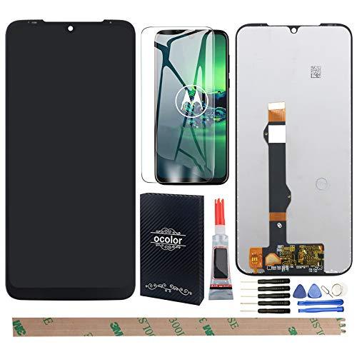 """YHX-OU 6.3"""" per Motorola Moto G8 Plus XT2019 XT2019-1 XT2019-2 di Riparazione e Sostituzione LCD Display Touch Screen Digitizer+ con Utensili Inclusi +1 Pezzo Vetro temperato(Nero)"""