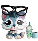 TTtoy lps Husky 2036, lps Blue Husky Dog with Blue Eyes Collectable Figures with lps Accessories Lot