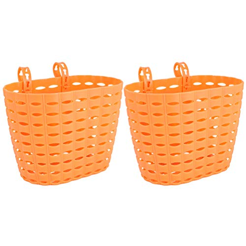 Abaodam Fahrradkorb für Kinder, abnehmbar, Kunststoff, 2 Stück