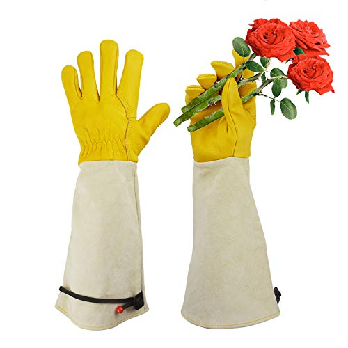 Gardening Gloves, Professional Puncture Proof Gloves for Rose Pruning & Cactus Trimming, Long...