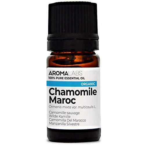 Aroma Labs Camomilla Del Marocco Bio - 5Ml - Olio Essenziale Bio E Naturale Al 100% - Qualità Verificata Mediante Cromatografia - Aroma Labs - 5 ml