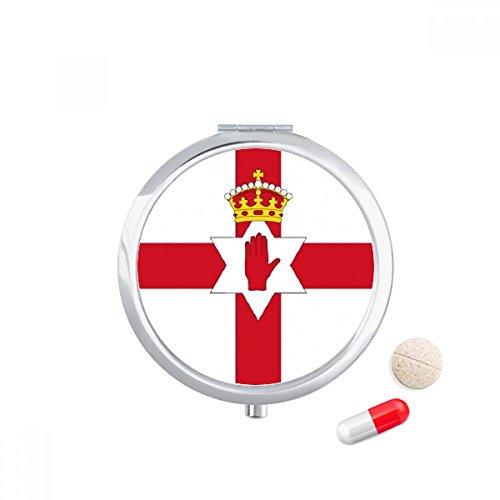 DIYthinker Noord-Ierland Nationale Vlag Europa Land Reizen Pocket Pill case Medicine Drug Storage Box Dispenser Spiegel Gift