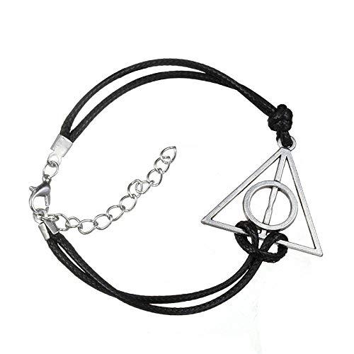 BHSICSACLJ Bracelet retro woven triangle leather woman jewelry