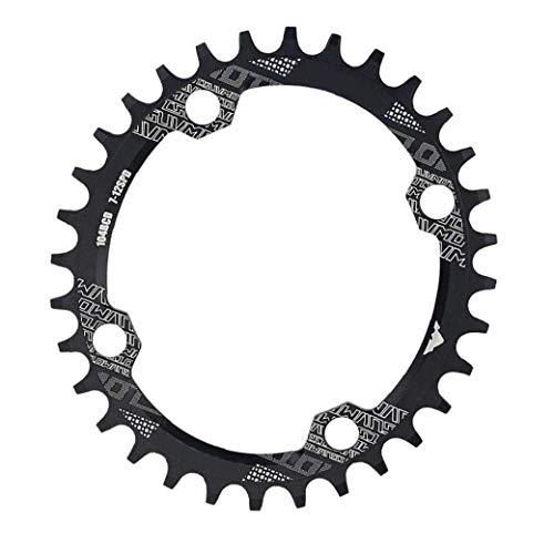 Anillo de la Cadena de la Bici Estrecho Ancho de la Cadena Anillo Oval Forma 32T 104mm BCD for Single Speed ??Bike Negro