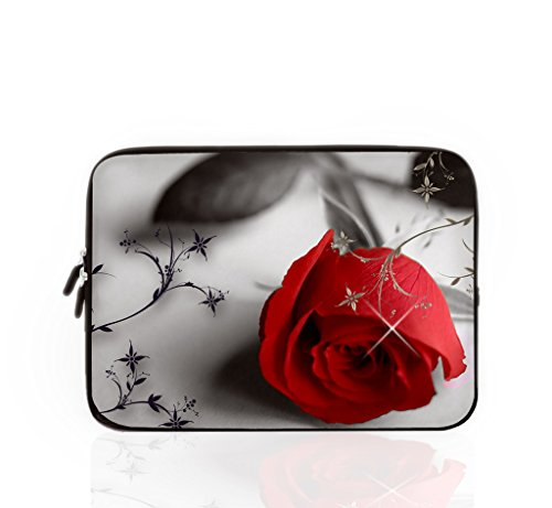 Laptop Sleeve Case Bag 10 inch Rose MacBook Pro Case,Zipper Computer Pouch,Gift-10'