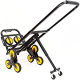 Mount-It! Stair Climbing Dolly - 3 Wheel Stair Climbing Cart | Easily Lift Heavy Items Up and Down Steps | Holds 330 Pounds and Smoothly Rolls on Variety of Surfaces - Portable Dolly for Stairs