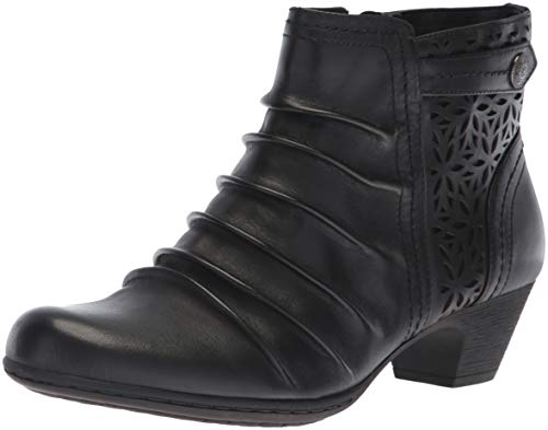 Rockport Women's Brynn Panel Boot Ankle, black, 9.5 M US