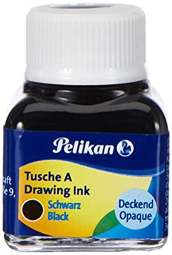 Pelikan 201665 - Tinta China 523-17, 10 ml en vidrio, se puede usar en papel, tarjetas de dibujo y películas opacas, negro perla ✅