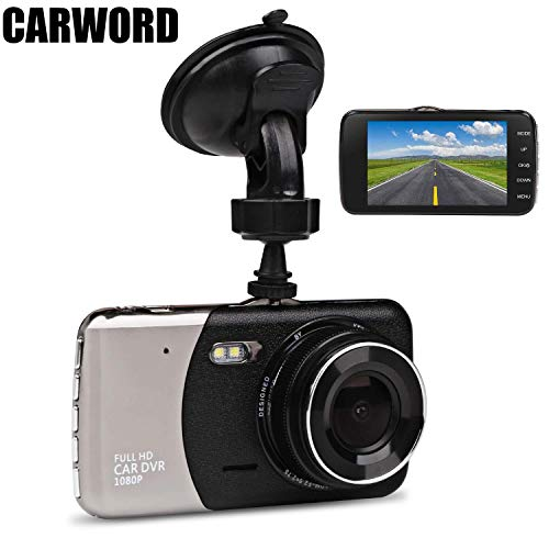 Car Dash Cam, JC Beauty[New Upgrade Version] 170°Wide Angle Front and Rear Dual Lens Digital Mini Camera DVR 1080P Full HD, For Video Loop Recording Dashboard, Built in G-Sensor, Park Monitor (Silver)