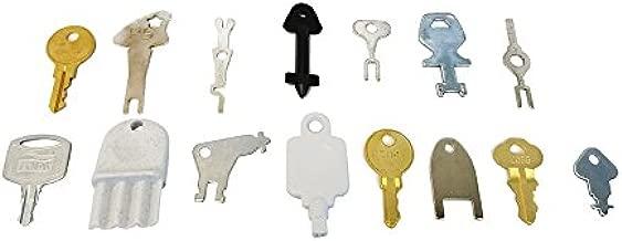 15 Popular Keys - Bobrick, Georgia Pacific, Kimberly Clark, Howard, San Jamar, SCA Tissue, Oceans, Merfin - Paper Towel, Toilet Paper Dispenser Locking Systems, Rollsavr- Electrical Switch Keys