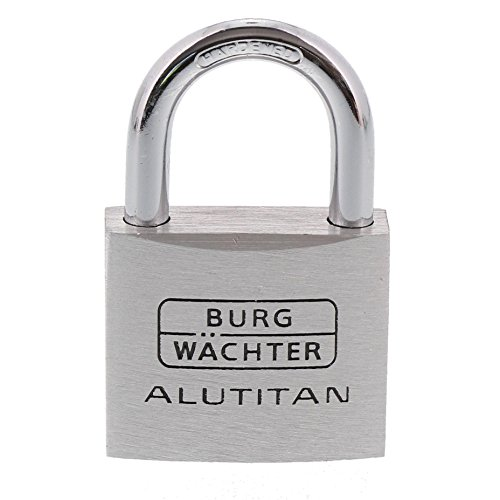 Burg-Wächter Vorhängeschloss, 2er-Set, 6,5 mm Bügelstärke, 4 Schlüssel, Duo 770 40 SB, 2 Stück