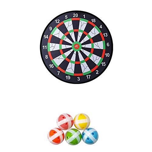MOC Diana para niños para interior y exterior, juego infantil, con 5 bolas con revestimiento de velcro, 28 cm