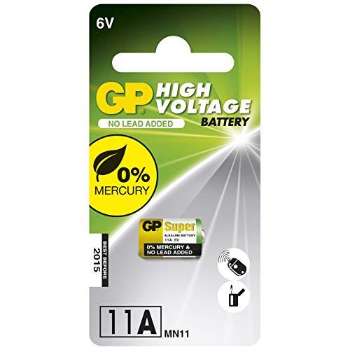GP Batteries 10011AC1 High Voltage Alkaline Knopfzelle 11A schwarz