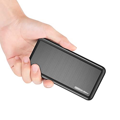 Batería Externa 10,000mAh, Cargador Portatil Power Bank de Carga Rápida 2.4A Batería Externa Paquetes de Dos Puertos con Pantalla LED Compatible con iPhone Huawei Samsung Nintendo Tabletas