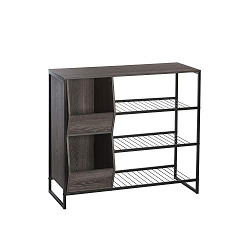 Afton 3-Tier Shoe Rack with Storage Bins