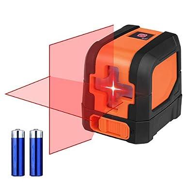 Foto di Suaoki L12R Livella Laser Autolivellante a Croce Orizzontale Verticale Distanza di Misurazione 10m Precisione ±0,3mm/m Certificato di Livello IP54, Custodia e Batteria Inclusa