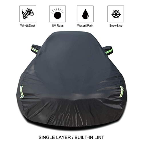 Breathable Waterproof Sun UV Car Cover Size : XKR|Black Jaguar F-Pace Car Clothing XFL XE XJ Special Coverage From The XKR Car F-Type Solar Protection Oxford Rain Cover of Cars Color: Black