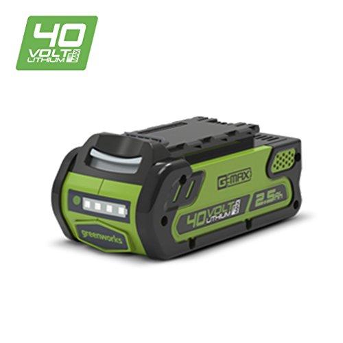 Greenworks Tools Akku G40B25 (Li-Ion 40 V 2,5 Ah wiederaufladbarer leistungsstarker Akku passend für alle Geräte der 40 V Greenworks Tools Serie)