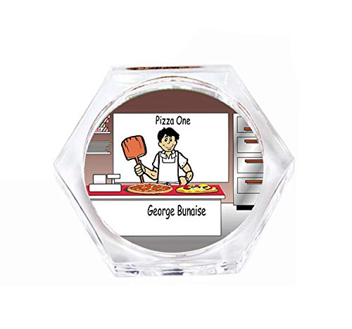 PrintedPerfection.com Personalized Drink Coaster Gift: Pizza Maker Male - Pizza delivery