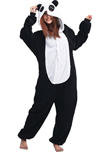 Lifeye Unisex Red Eye Panda Pajamas Adult Animal Cosplay Costume Black