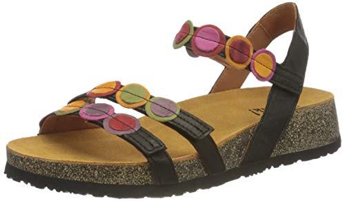 THINK! Damen KOAK_3-000322 nachhaltige Riemchen Sandale, 0000 SZ/Kombi, 39 EU