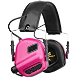 OPSMEN Electronic Shooting Noise Safety Earmuff Sound Amplification Protection Pink