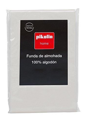 Pikolin Home - Almohadón, funda de almohada, 100% algodón, almohadas de 90 y 105cm, color natural (Todas las medidas)