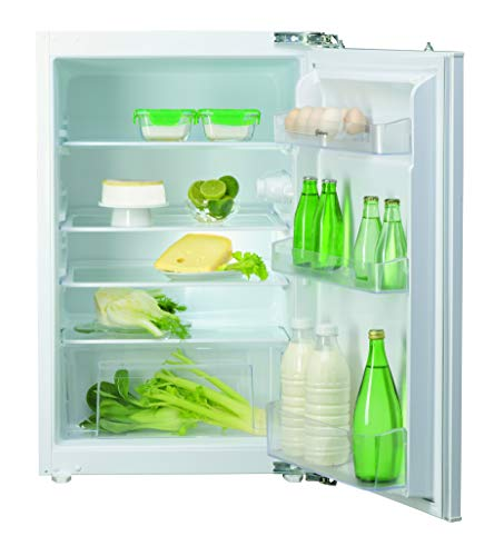 Bauknecht KSI 9VF2 Einbau-Kühlschrank (Nische 88) / Gesamtnutzinhalt: 131 Liter/ Abtauautomatik im Kühlteil / LED-Licht / Einfache Festtürmontage SETMO-QUICK, Weiß