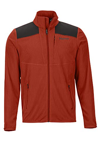 Marmot Reactor Jacket Veste Molleton, Veste Outdoor Homme, Sweat à Capuche zippé, Coupevent Homme Picante/Black FR: XL (Taille Fabricant: XL)