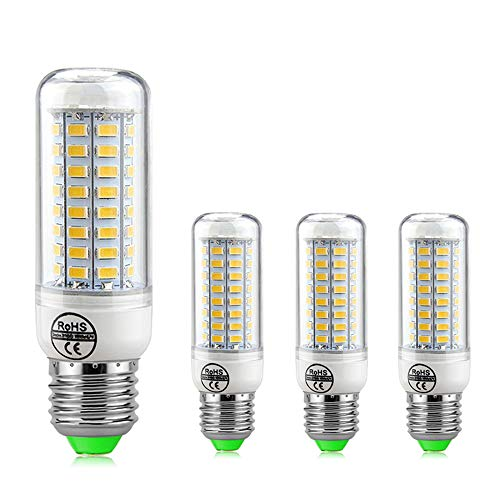 ZJING E27 LED Warm White 7w 12w 15w 18w 20w 25w, 25W LED E27 Corn Bulb Bulbs Replaces Incandescent 230W, Led Energy Saving Bulbs, Led Candle Light Bulb Non Dimmable - Pack of 4,E27 Warm,25W