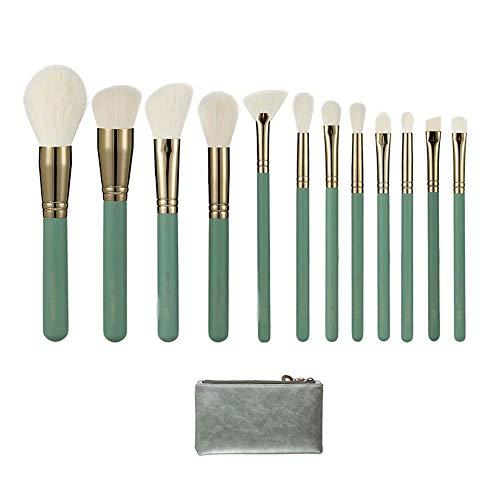 Pinceaux de Maquillage, kit de Brosse de Maquillage de Voyage Professionnel de Maquillage de Cheveux de 12pcs Cheveux naturels avec Le Cas