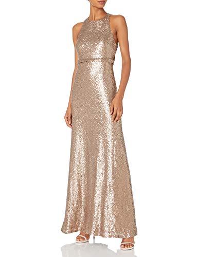 Jenny Yoo Women's Sloane Sequin Gown, Hazel, 10