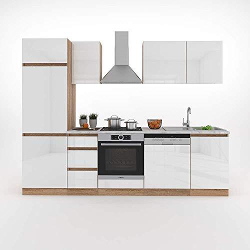 Vicco Küche Optima Küchenzeile Küchenblock Einbauküche 270cm