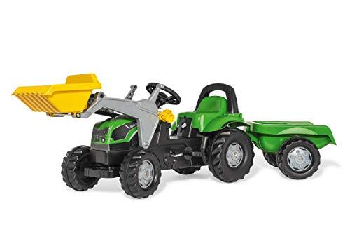 Rolly Toys rollyKid Deutz-Fahr 5115 G TB Trettraktor mit Anhänger (für Kinder von 2,5 bis 5 Jahren, Heckkupplung) 023196