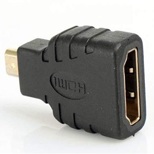 FHJZXDGHNXFGH Adattatore Micro-HDMI a HDMI Micro HDMI 1080P Placcato in Oro Maschio a HDMI Standard per Modello Raspberry Pi 4 Modello B.