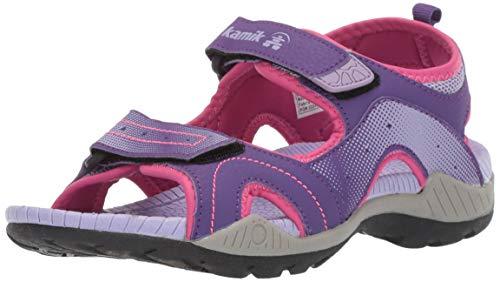 Kamik Girls' Dune Sandal, Purple, 6 M US Big Kid