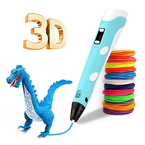 LONXAN Bolígrafo 3d para Niños ,12 Colores Inteligentes Bolígrafo de Impresión 3d,Compatible...