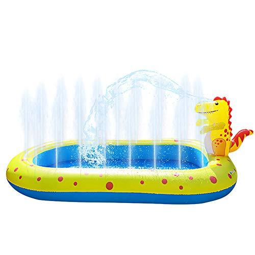 SJTL Piscinas Rectangulares Dinosaurio,Pool Piscinas para Terrazas, Piscina Hinchable Familiar, Piscina de Bolas Marinas para Niños y Adultos/Blue / 170X105X65CM,Amarillo