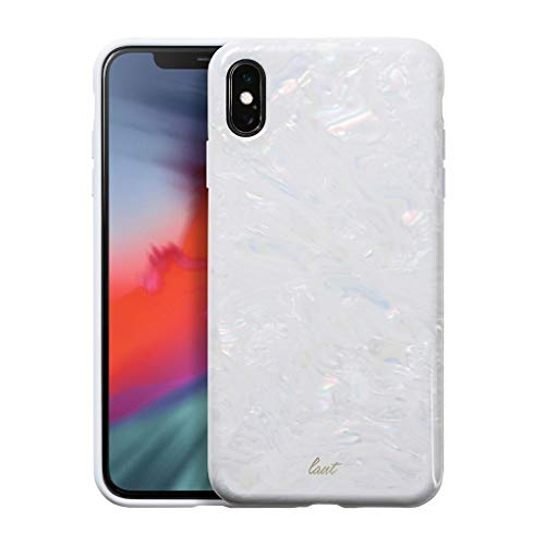 LAUT - Pearl Series for iPhone Xs Max | Mother of Pearl Phone Case | Pearl Phone Case | 3D Sensational Case (Arctic Pearl)