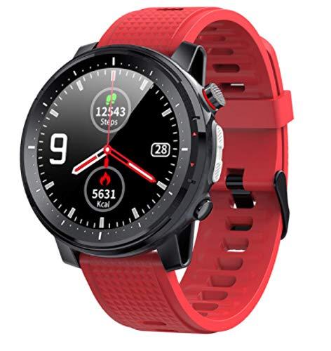 L15 Smart Watch,GPS Waterproof Screen Fitness Watch,with Heart Rate Monitor,Pedometer,Sleep Monitor,Silent Alarm Clock,Super Battery Life,Slim Smart Bracelet(Red)