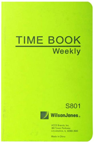 Wilson Jones Foreman's Time Book, 6.75 x 4.125 Inches, 1 Page per Week, 36 Pages per Book (WS801A)