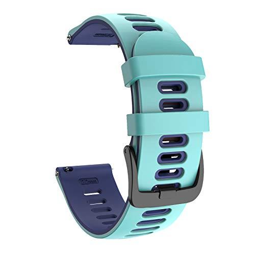 ISABAKE 20mm Correa Reloj Garmin de Silicona Suave para Galaxy Watch 42 mm/Garmin Vivoactive 3/Samsung Galaxy Active 2/Garmin Forerunner 245/245 Music/Vivomove HR/Forerunner 645/Forerunner 645 Music