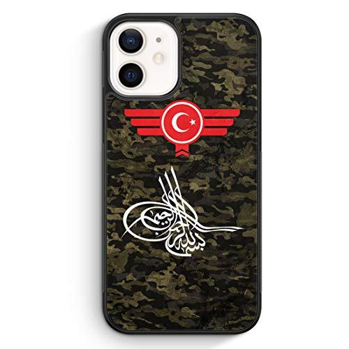 Osmanli Tugrasi Türkiye Türkei Camouflage - Silikon Hülle für iPhone 12 Mini -...