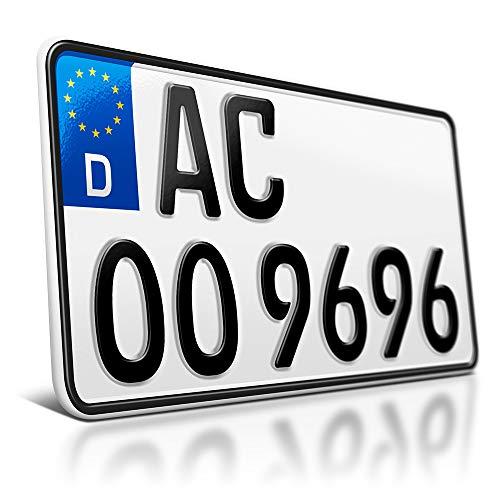 schildEVO 1 Kfz Kennzeichen | 255 x 130 mm | Motorrad & Roller | Traktor | Leichtkraftrad | Krad | Anhänger | Saison Autokennzeichen