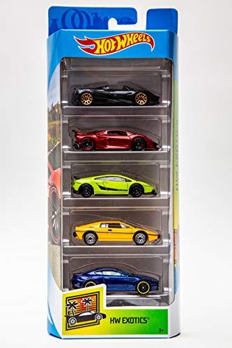 Hot Wheels 2019 HW Exotics 5-Pack (Pagani Huayra Roadster, Lamborghini Sesto Elemento, Lamborghini Gallardo LP 570-4 Superleggera, Lotus Esprit S1, Aston Martin V8 Vantage)