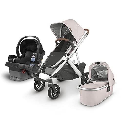UPPAbaby Vista V2 Stroller - Alice (Dusty Pink/Silver/Saddle Leather) + Mesa Infant Car Seat - Jake (Black)