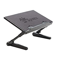 Fully adjustable & portable: laptop stand adjusts to 22-inches in height and a full 360-degrees so you can work in the perfect position – turn it into a standing desk and put your screen where it's easy to see. Collapses flat for easy storage. Adjust...