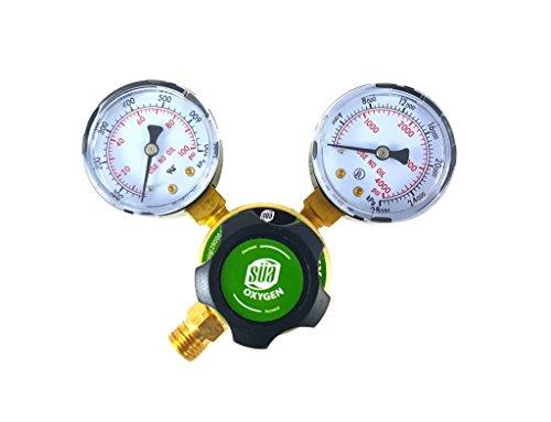 SÜA - Oxygen Regulator Welding Gas Gauges - CGA-540 - Rear Connector - LDP series