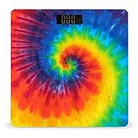 絞り染めパターン LCDディスプレイ付き高精度スマートフィットネススケール体重デジタルバスルームボディスケール