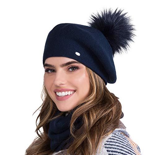 Kamea Damen Baskenmütze Dora Gr. Einheitsgröße, dunkelblau